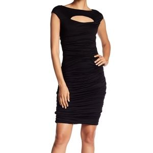 Bailey 44 Cap Sleeve Front Cutout Dress - Black M